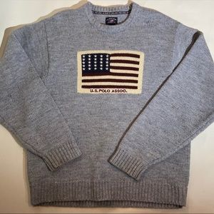 Vintage U.S. Polo Assoc. American Flag Sweater
